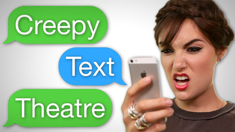 Creepy texting with Sasha Grey