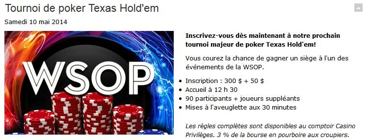 poker tournaments at casino lac leamy