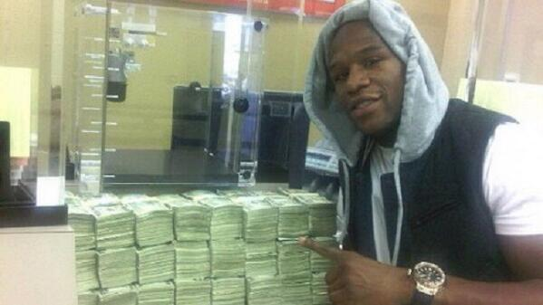 Floyd Mayweather bets 10.4m on superbowl